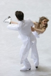 GANGNEUNG, SOUTH KOREA - MARCH 02:  Lauri Bonacorsi and Travis Mager of United States compete in the Ice Dance Short Dance on day three of the 2011 World Junior Figure Skating Championships at Gangneung International Ice Rink on March 2, 2011 in Gangneung