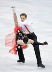GANGNEUNG, SOUTH KOREA - MARCH 02:  Ksenia Monko and Kirill Khaliavin of Russia compete in the Ice Dance Short Dance on day three of the 2011 World Junior Figure Skating Championships at Gangneung International Ice Rink on March 2, 2011 in Gangneung, Sout