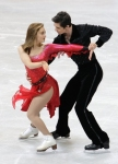 GANGNEUNG, SOUTH KOREA - MARCH 02:  Anastasia Cannuscio and Colin Mcmanus of United States compete in the Ice Dance Short Dance on day three of the 2011 World Junior Figure Skating Championships at Gangneung International Ice Rink on March 2, 2011 in Gang