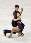 GANGNEUNG, SOUTH KOREA - MARCH 03:  Narumi Takahashi and Mervin Tran of Japan compete in the Pairs Free on day four of the 2011 World Junior Figure Skating Championships at Gangneung International Ice Rink on March 3, 2011 in Gangneung, South Korea.  (Pho