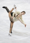 GANGNEUNG, SOUTH KOREA - MARCH 03:  Carolina Gillespie and Luca Dematte of Italy compete in the Pairs Free on day four of the 2011 World Junior Figure Skating Championships at Gangneung International Ice Rink on March 3, 2011 in Gangneung, South Korea.  (