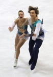 GANGNEUNG, SOUTH KOREA - MARCH 04:  Ekaterina Pushkash and Jonathan Guerreiro of Russia compete in the Ice Dance Free on day five of the 2011 World Junior Figure Skating Championships at Gangneung International Ice Rink on March 4, 2011 in Gangneung, Sout