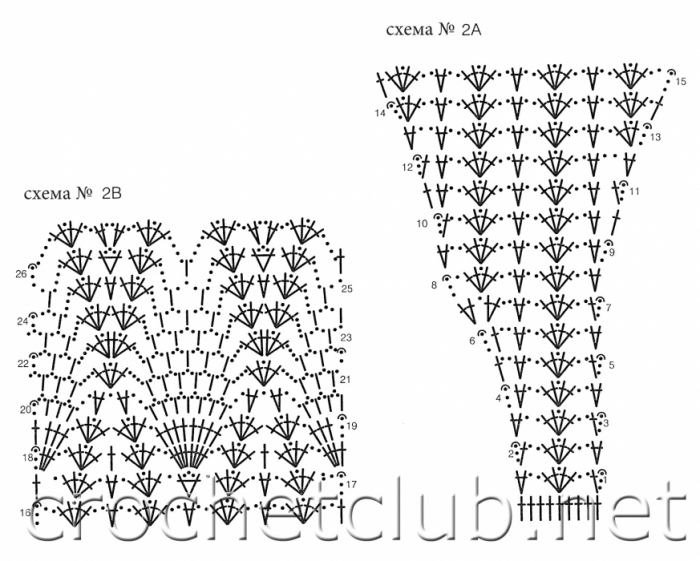 Крючок вязание схемы крестильного платья