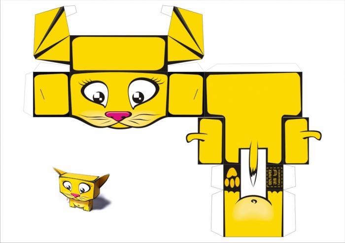 Схемы поделок из бумаги животные