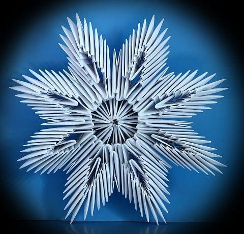 Снежинка - схема оригами из
