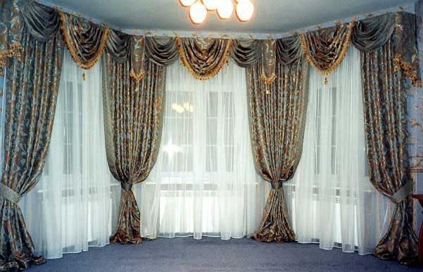 Из блога ГАЛИНЫ ШАДРИНОЙ.  Дизайн штор, самые красивые шторы.  Не могу пройти мимо такой красоты!