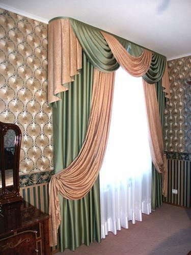 Пошив штор для гостиной: гардины.