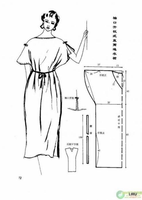 Летнее платье для полных женщин выкройка сшить