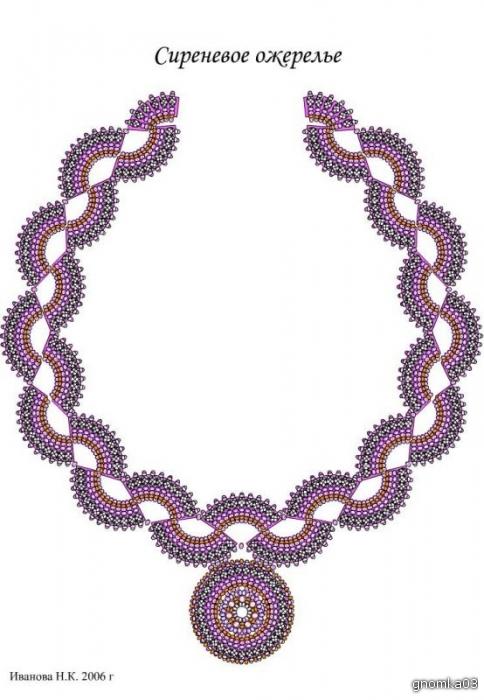 Схема плетения ожерелья из бисера - Скачать схемы бесплатно.