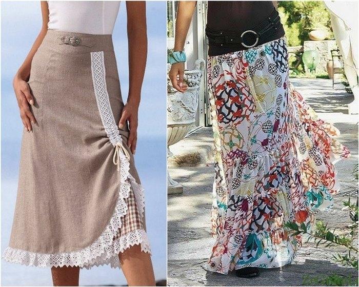 Она сшила себе очень модную юбку 13