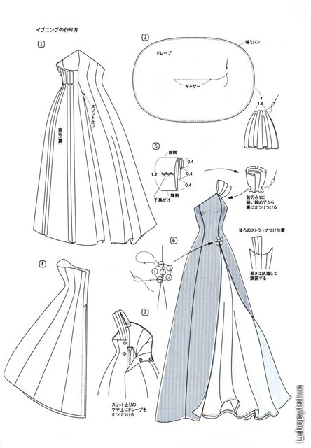 выкройка платья для куклы 60