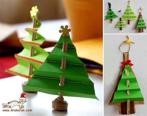 Из чего можно сделать новогоднюю игрушку ёлка