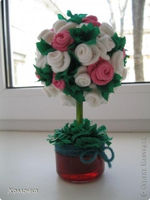 Дерево из лепестков роз своими руками