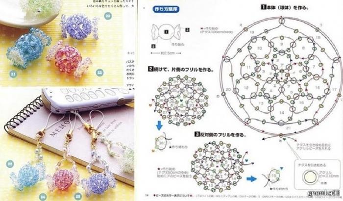 брелки из бисера схемы плетения - Исскуство схемотехники.
