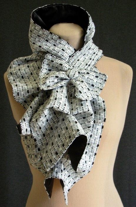 Брошки бисеШкольные Снуд своими руками из шарфа