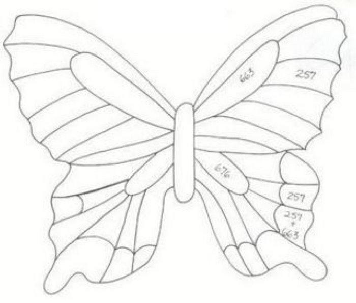 Как сделать бабочку своими руками трафареты