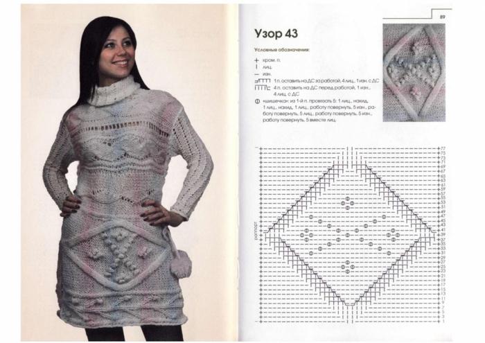 Иллюстрации Рельефные и объемные узоры.  Аранское вязание.