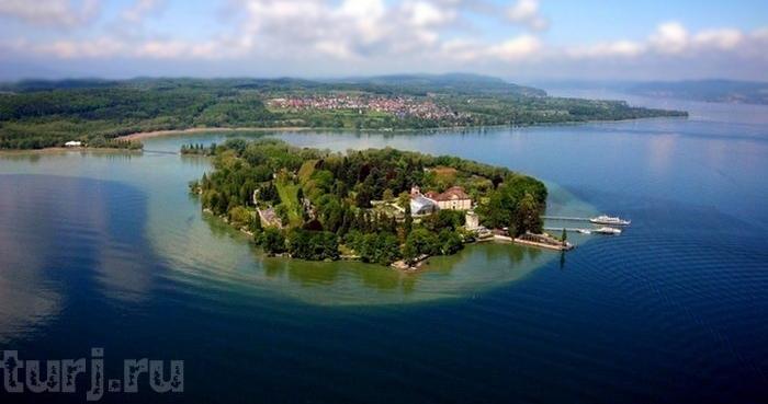 Almanya Mainau Adası, dünya üzerinde bir cennet, Almanya Konstanz Gölü Üzerinde Maina