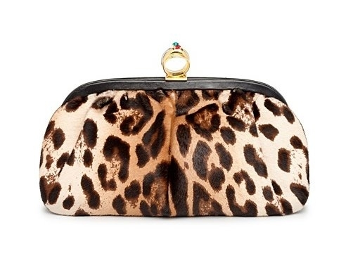 Сумка-кошелек с леопардовым принтом.