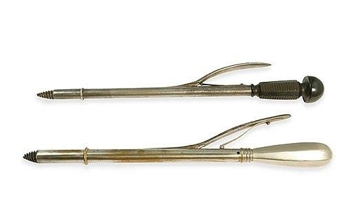 Иоанна Грозная Краниотом Симпсона Эти инструменты вворачивются в голову ребенка. Как только они проникают в голову, ручка надавливается, позволяя острому ножу разрезать череп на куски.