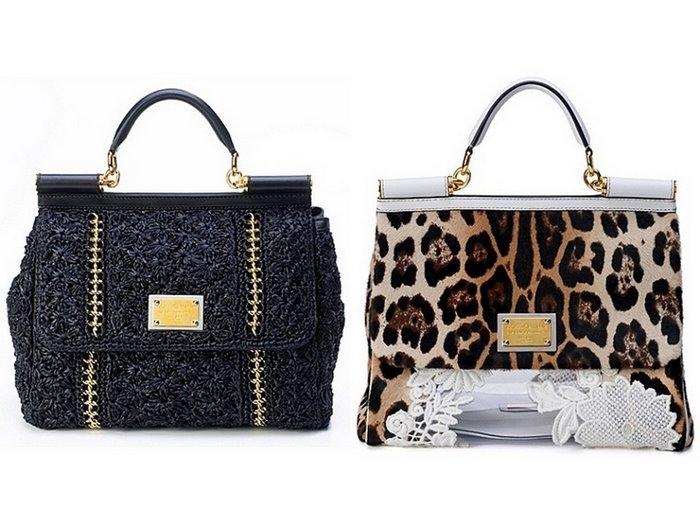 Вязаные сумки 2011 от Dolce & Gabbana.