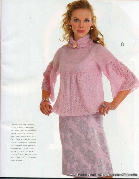 3 дн. назад Метки: топ спицами кофточка спицами кофта спицами вязание .  Розовый джемпер Мягкий, нежный...