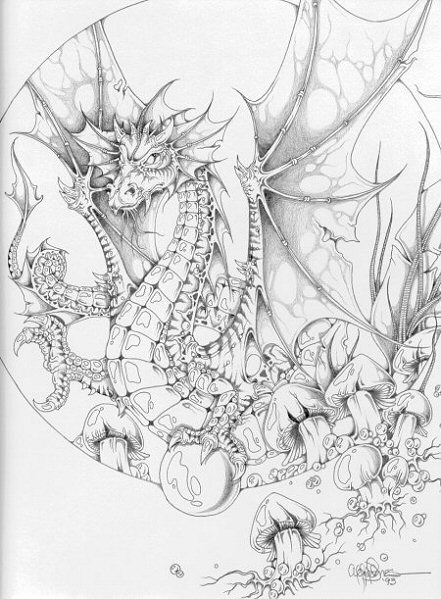 как рисовать дракона поэтапно.