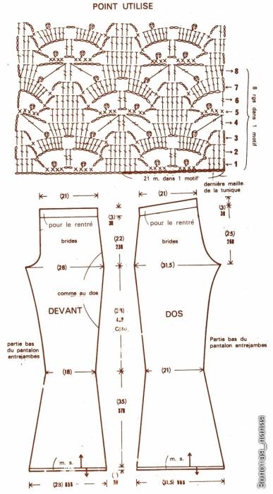 Вязание со схемами штаны