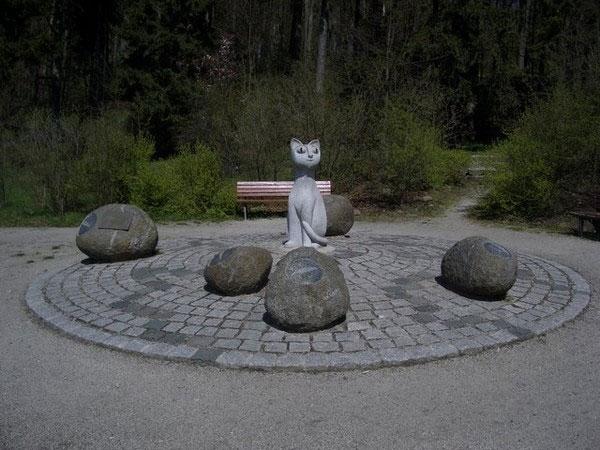 В городе Хоф (Германия) в парке Терезеенштайн (Theresienstein).