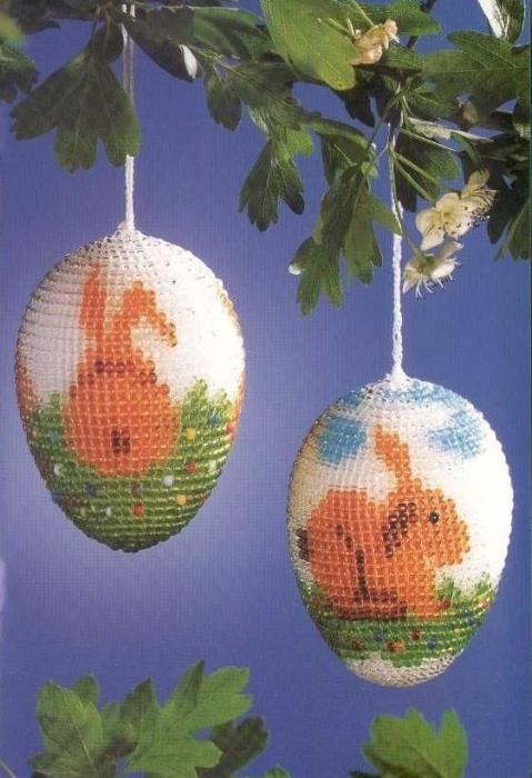 Яйца пасхальные из бисером пасхальные