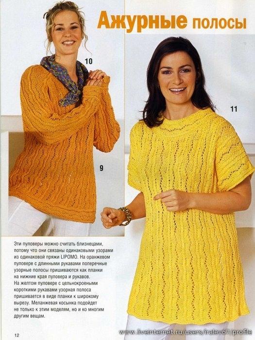 ЖЕНСКИЕ МОДЕЛИ - Пуловеры, свитера (с описаниями).  Все фотографии альбома.