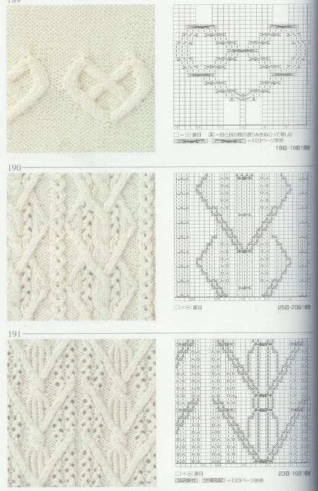 Вязание спицами узоры схемы японские схемы 14