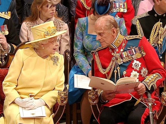 s Prince Philip at Westminster Abbey for the Royal Wedding in London on Friday, April, 29, 2011. (AP Photo/APTN) EDITORIAL USE ONLY NO ARCHIVE PHOTO TO BE USED SOLELY TO ILLUSTRATE NEWS REPORTING OR COMMENTARY ON THE FACTS OR EVENTS DEPICTED IN THIS IMAGE