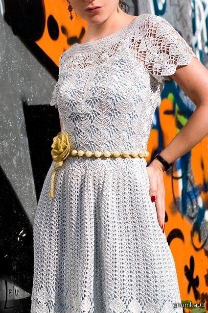 Вязанное платье миноуг