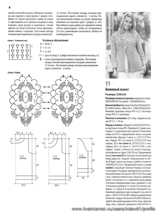 Схемы вязания на спицах для солидных дам