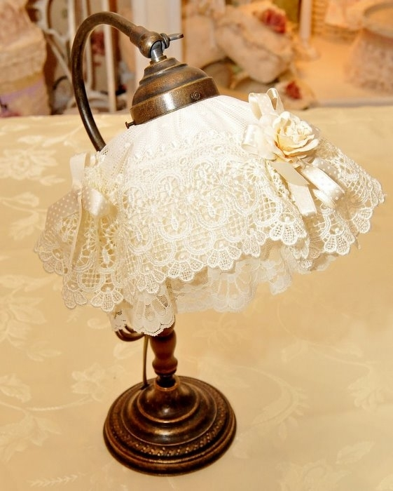 craft home decor and gifts: lace boxes and lampshade