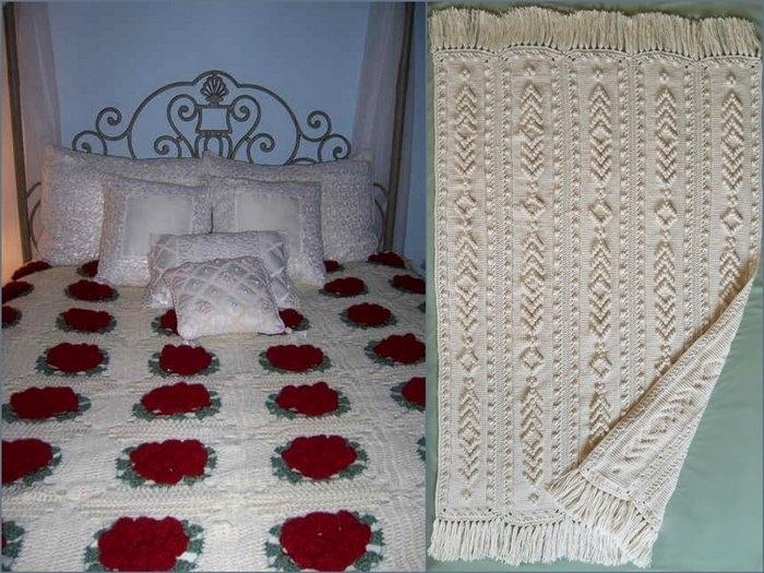 3524751 tablecloths and bedspreads1 2012 El Emeği Koltuk Örtüleri, El Emeği Yatak Örtüleri, El Örgüsü Ev Aksesuarları, Son Modelleriyle Örgü Dikme Ev Aksesuar Modelleri