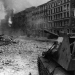 Самоходное орудие Су-76 ведет уличные бои. Берлин. 1945