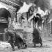 Уличные бои в Берлине. Расчет станкового пулемета Горюнова меняет позицию, апрель 1945