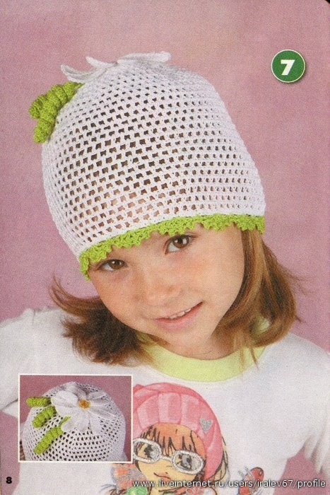 вязание крючком для начинающих шапочки для детей.