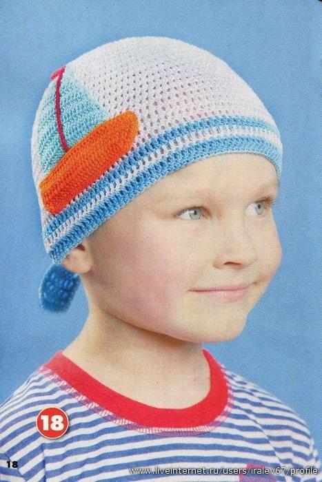 Вязание крючком шапки для детей схемы - Готовые.