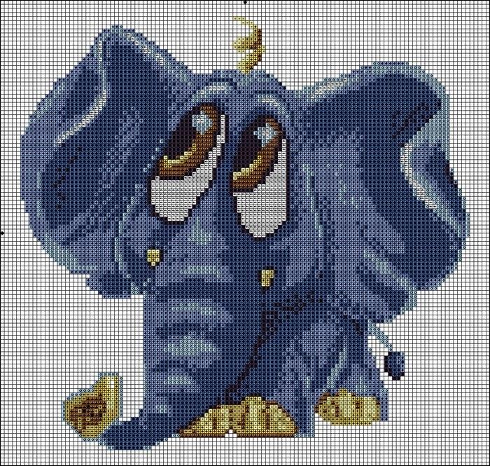 вышивка -слоник