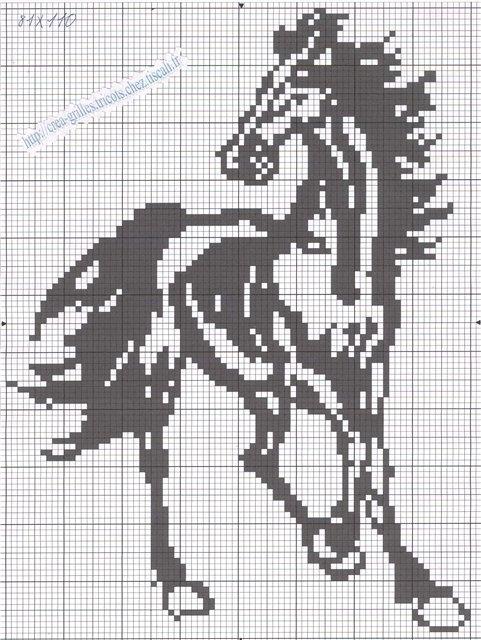 Лошадь- монохром.