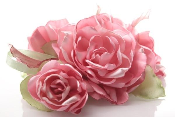 Цветы из ткани заколки своими руками