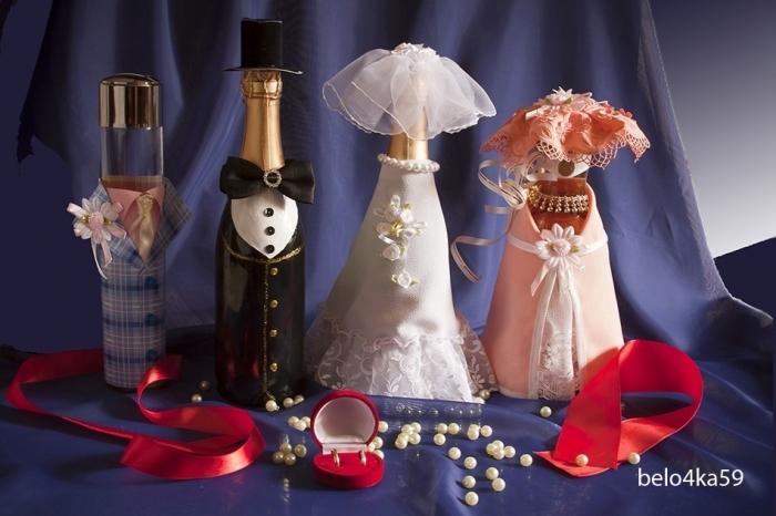 Свадебные бутылки.
