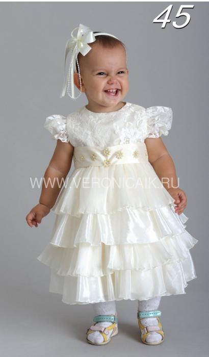 Нарядное платье для малышки 1-3 года.