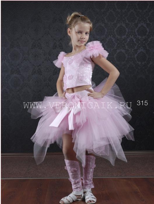 Артикул: 011-315. Яркое оригинальное платье-костюм для девочек 6-10 лет.