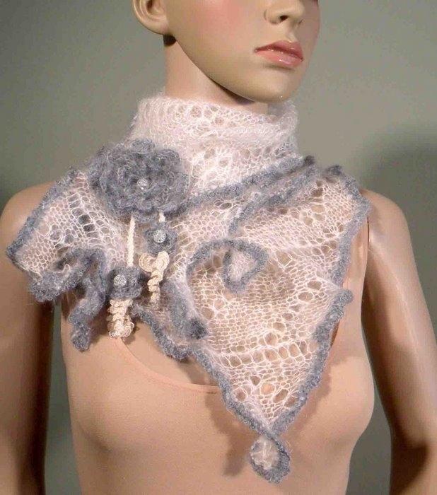 как связать шарф хомут спицами - Сумки.