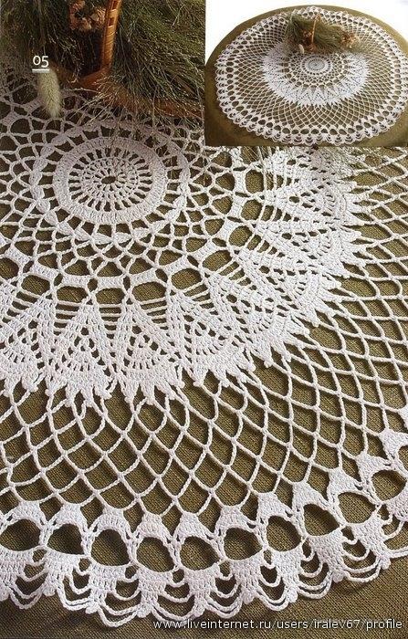 Рисунки и схемы вязания крючком, схемы вязания салфеток и вязание.