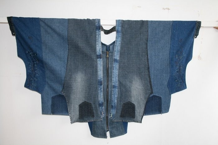 Джинсовый сарафан из джинсов своими руками